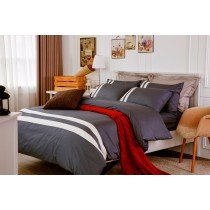 RueHong(寢具)經典素色系列床包+兩用被-極簡風尚(個性灰)