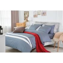 RueHong(寢具)經典素色系列床包+兩用被-極簡風尚(午夜藍)